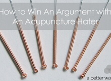 how to win an arguement with an acupuncture hater